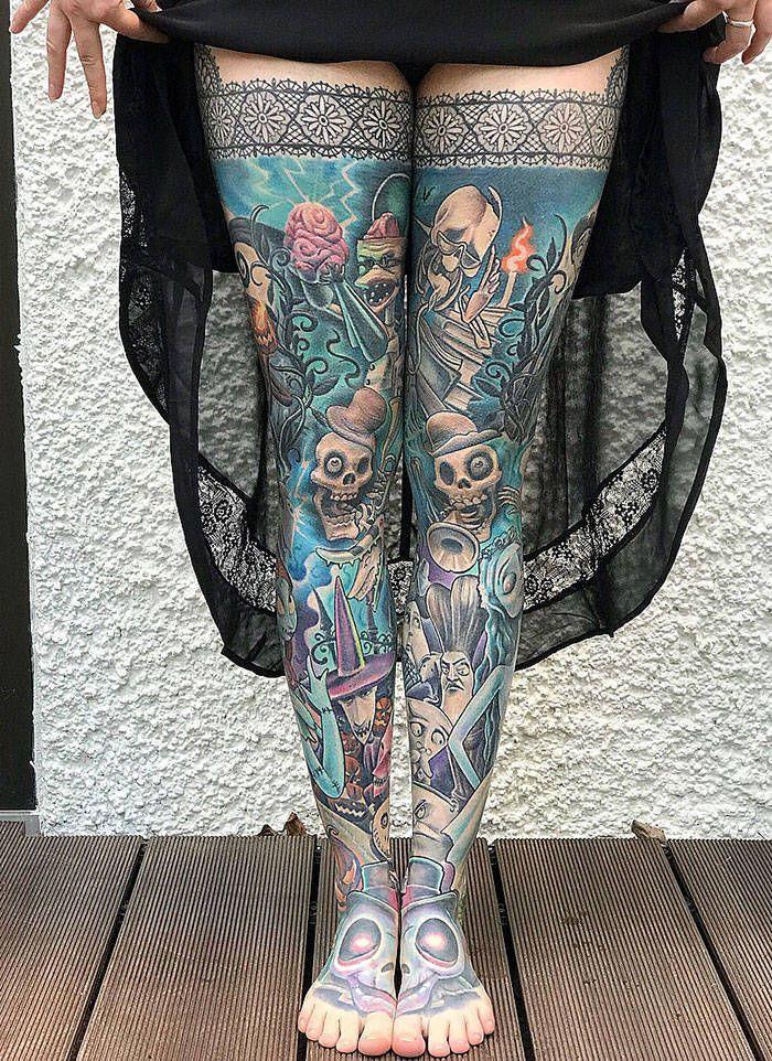 Algumas das mais incríveis tatuagens de pernas (43 fotos) 37