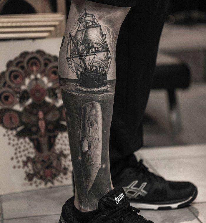 Algumas das mais incríveis tatuagens de pernas (43 fotos) 44