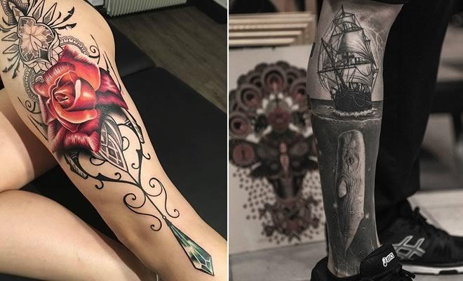 Algumas das mais incríveis tatuagens de pernas (43 fotos) 10