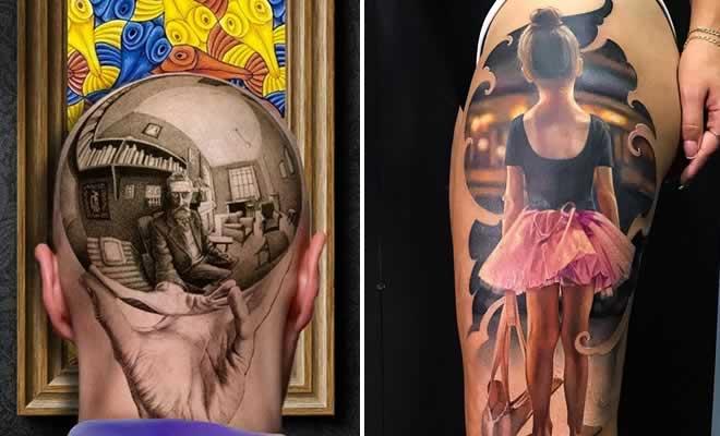 20 tatuagens 3D realísticas somente o mais bravo se atreveria a fazer 18