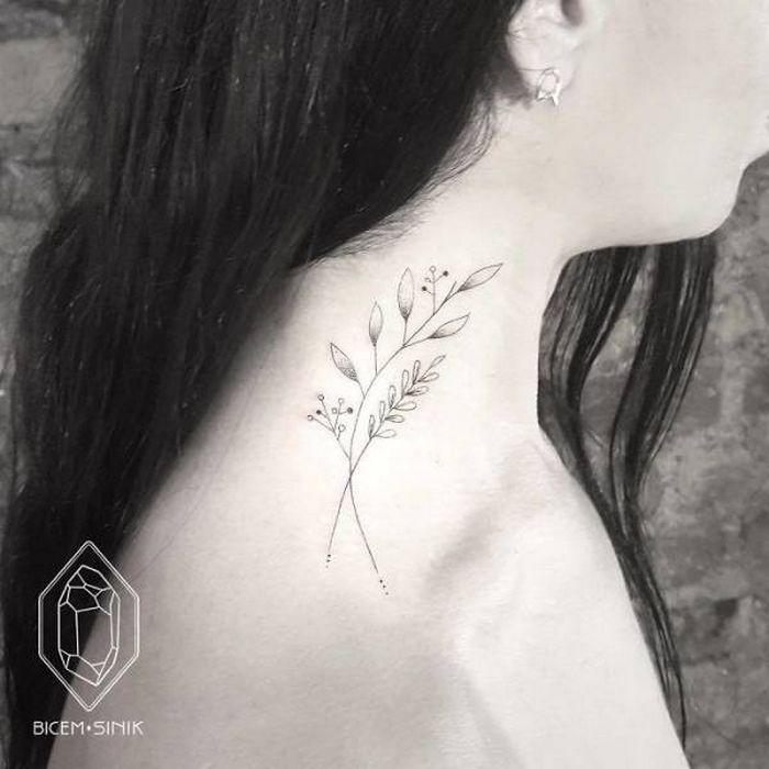 45 idéias inspiradoras de tatuagem para o pescoço e nuca 3