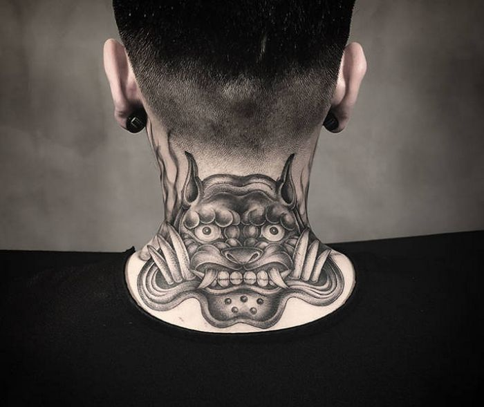 45 idéias inspiradoras de tatuagem para o pescoço e nuca 8