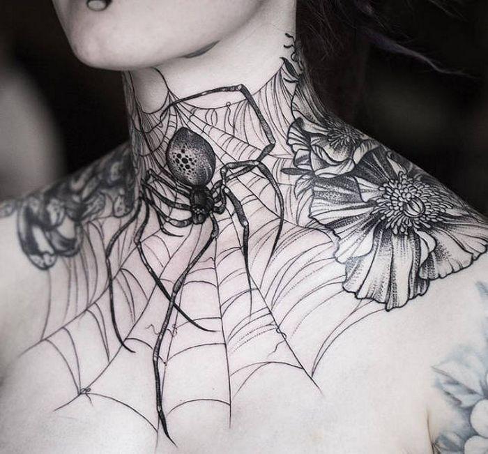 45 idéias inspiradoras de tatuagem para o pescoço e nuca 9
