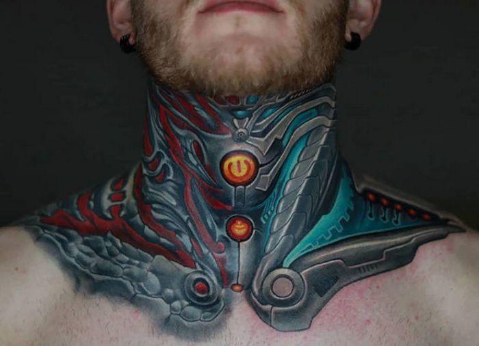 45 idéias inspiradoras de tatuagem para o pescoço e nuca 10