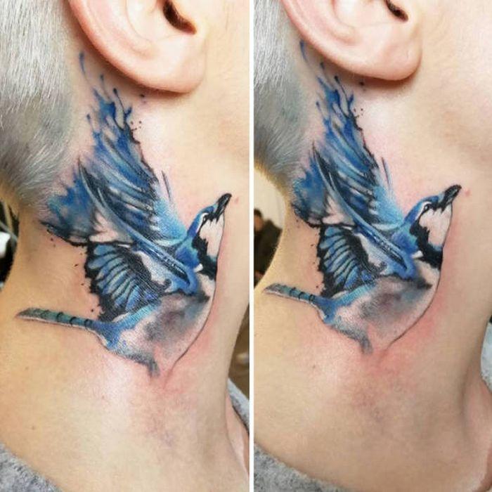 45 idéias inspiradoras de tatuagem para o pescoço e nuca 14