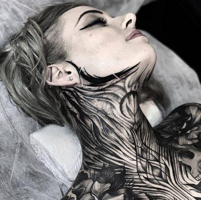 45 idéias inspiradoras de tatuagem para o pescoço e nuca 15