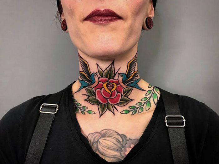 45 idéias inspiradoras de tatuagem para o pescoço e nuca 25