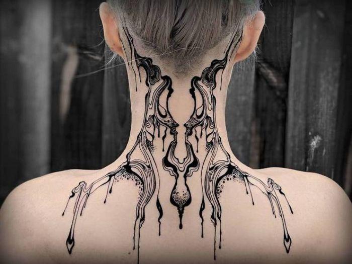 45 idéias inspiradoras de tatuagem para o pescoço e nuca 26