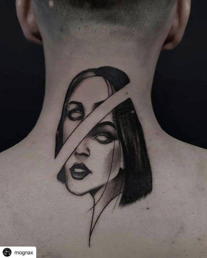 45 idéias inspiradoras de tatuagem para o pescoço e nuca 27