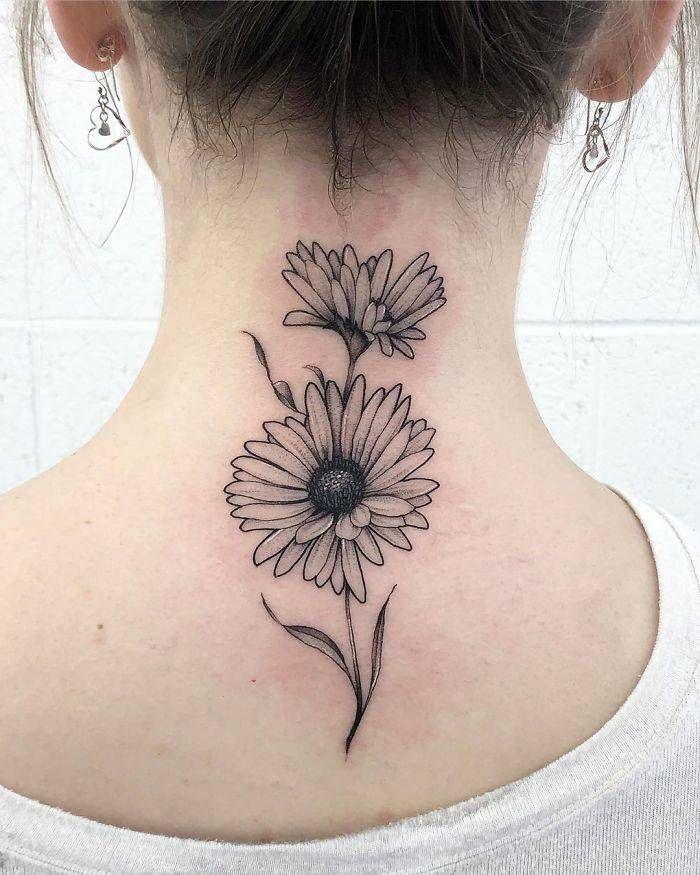 45 idéias inspiradoras de tatuagem para o pescoço e nuca 30