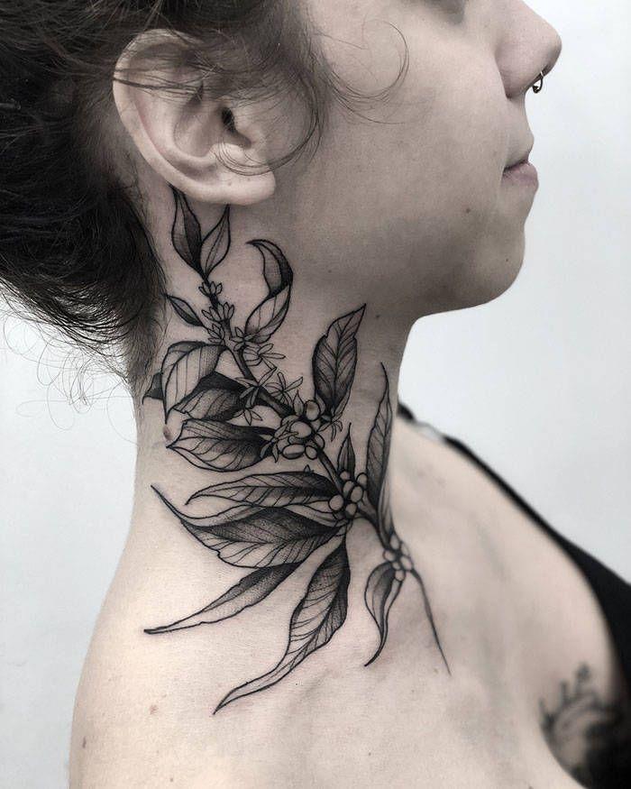 45 idéias inspiradoras de tatuagem para o pescoço e nuca 31