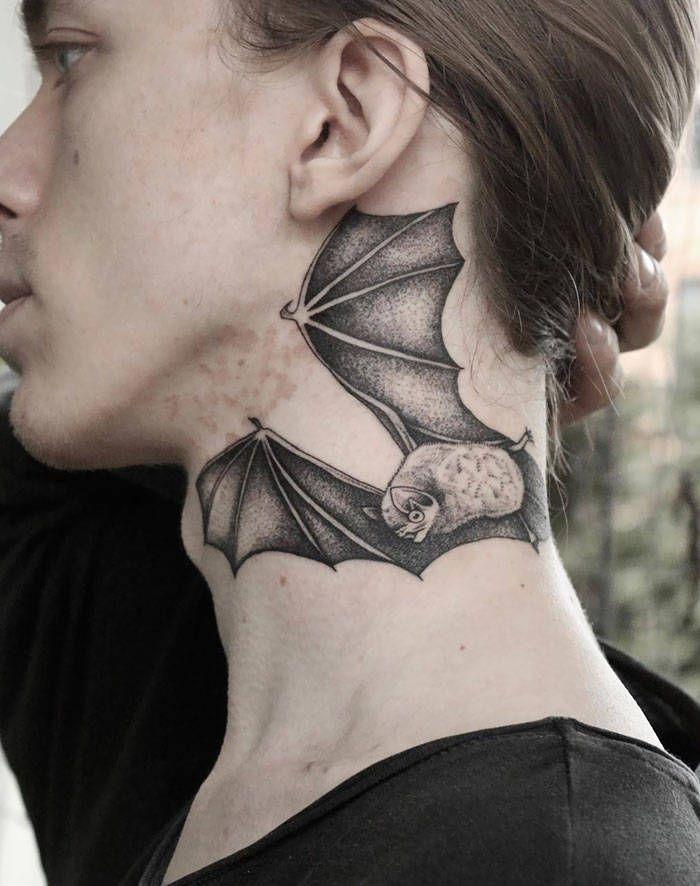 45 idéias inspiradoras de tatuagem para o pescoço e nuca 40