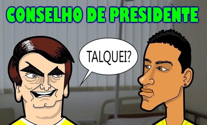 Neymar recebe dicas do Presidente 5