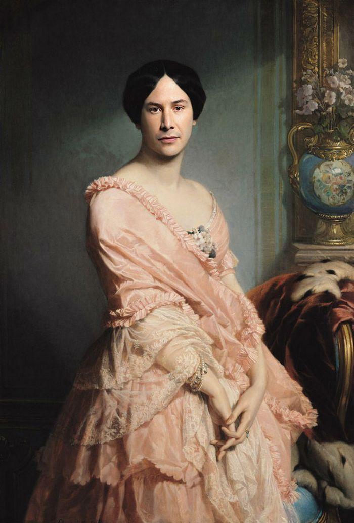 Pinturas clássicas recriadas com celebridades modernas 3