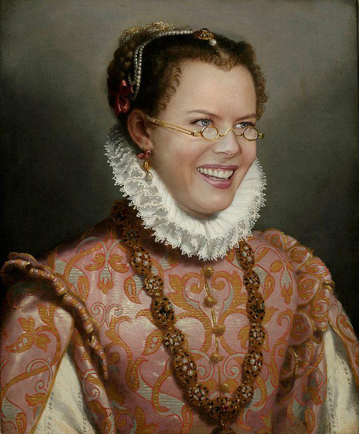Pinturas clássicas recriadas com celebridades modernas 6