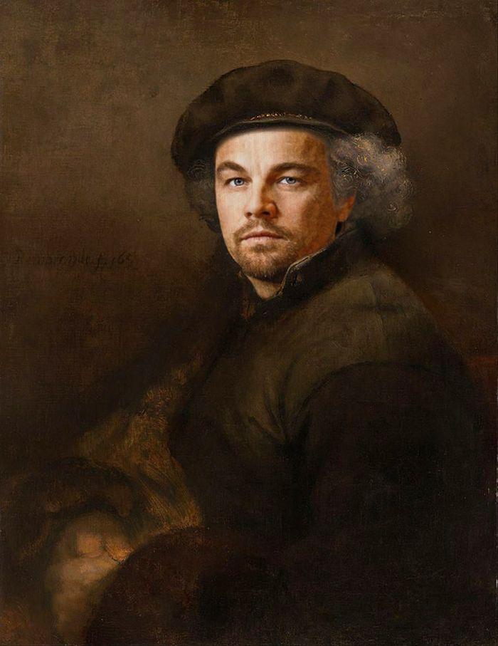 Pinturas clássicas recriadas com celebridades modernas 7
