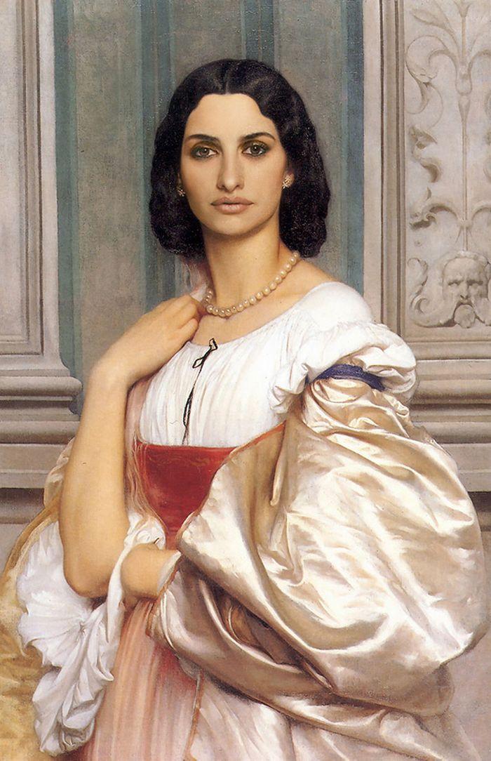 Pinturas clássicas recriadas com celebridades modernas 8