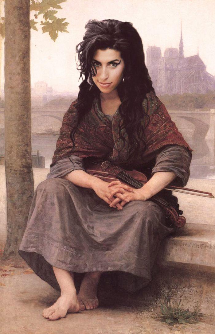 Pinturas clássicas recriadas com celebridades modernas 9