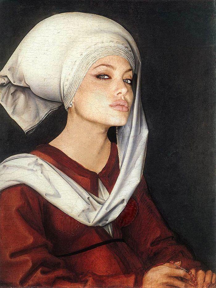 Pinturas clássicas recriadas com celebridades modernas 11
