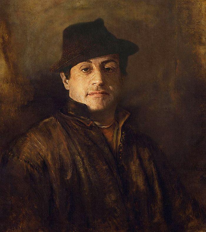 Pinturas clássicas recriadas com celebridades modernas 12