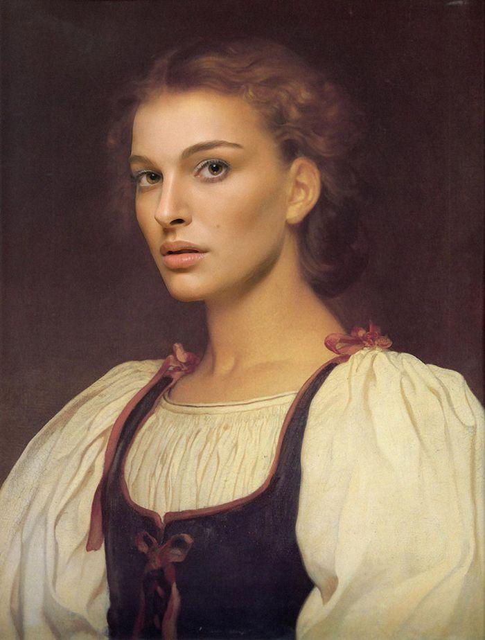 Pinturas clássicas recriadas com celebridades modernas 16