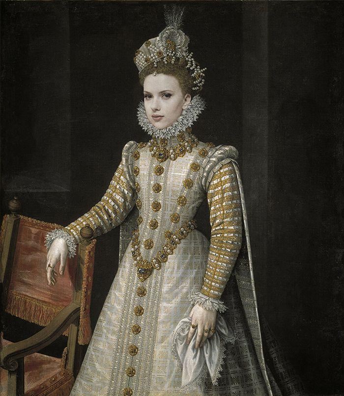 Pinturas clássicas recriadas com celebridades modernas 17