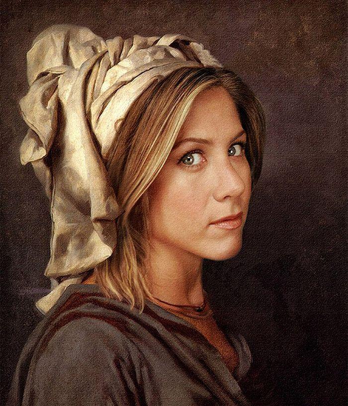 Pinturas clássicas recriadas com celebridades modernas 21