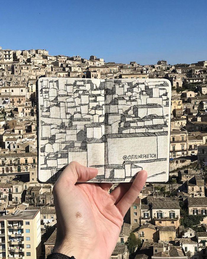 Artista cria fotografias alucinantes misturando desenhos com realidade (34 fotos) 31