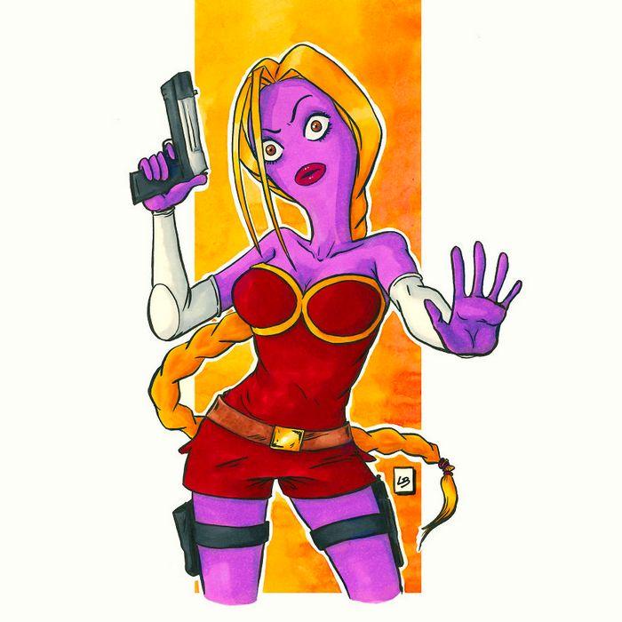 26 personagens de desenhos animados fazendo fusão 9