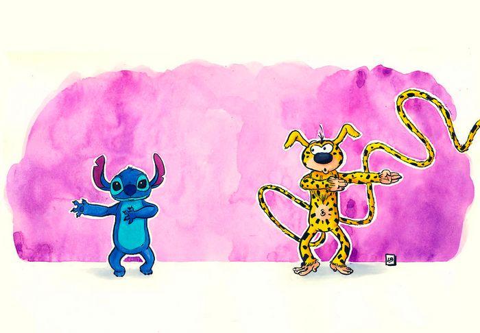 26 personagens de desenhos animados fazendo fusão 18