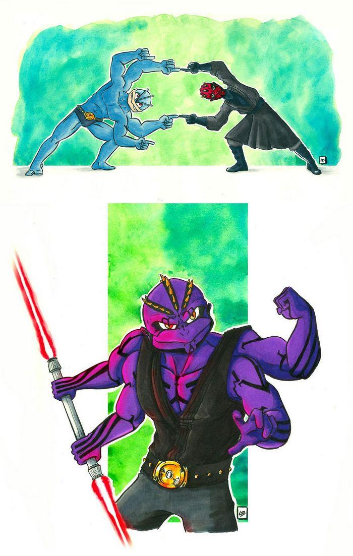 26 personagens de desenhos animados fazendo fusão 29