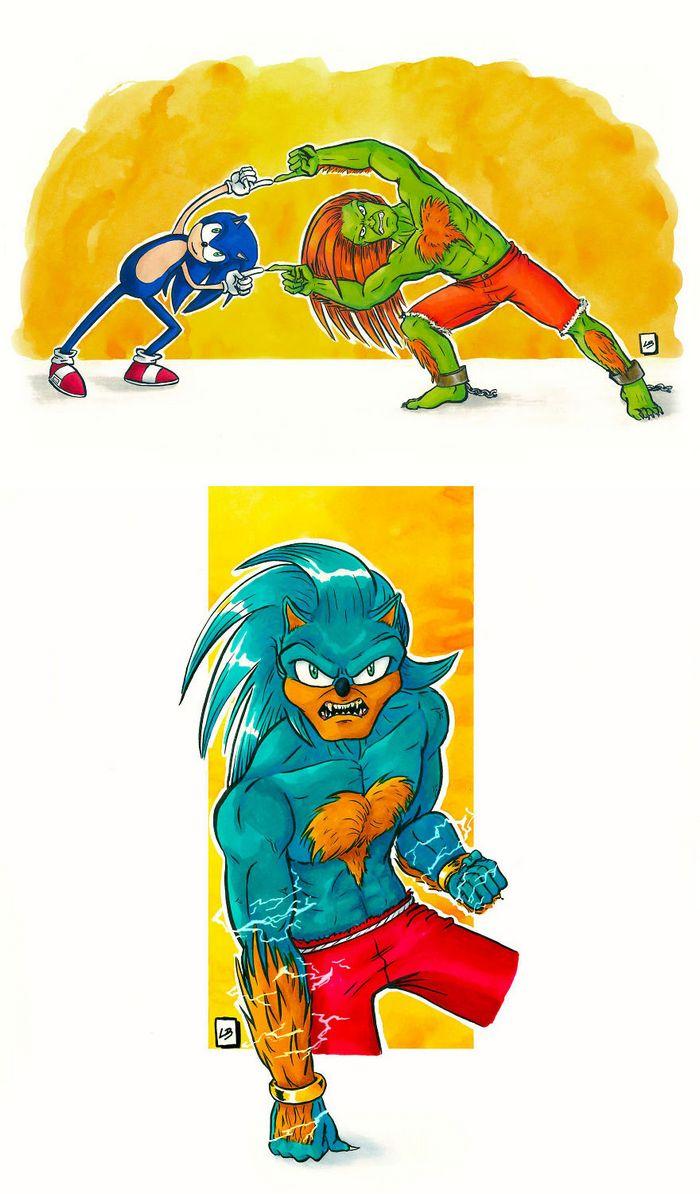 26 personagens de desenhos animados fazendo fusão 32