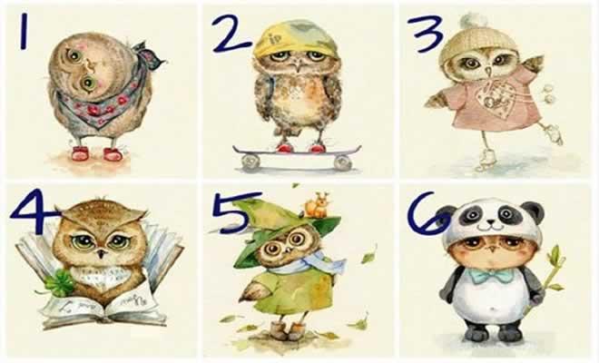 Teste de personalidade divertida da coruja 1