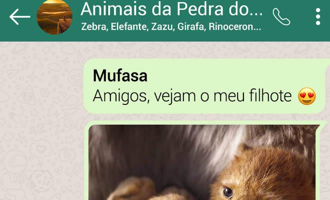 15 conversas dos personagens do Rei Leão pelo WhatsApp 2