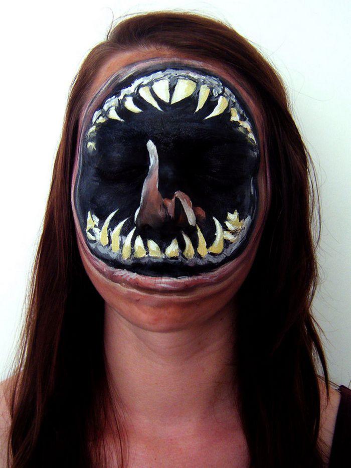 21 idéias assustadoras de maquiagem bem a tempo para o Halloween 9