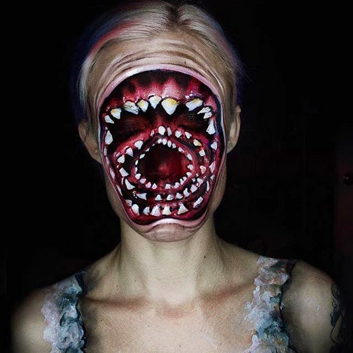 21 idéias assustadoras de maquiagem bem a tempo para o Halloween 12