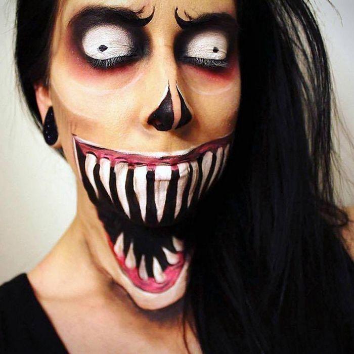 21 idéias assustadoras de maquiagem bem a tempo para o Halloween 16