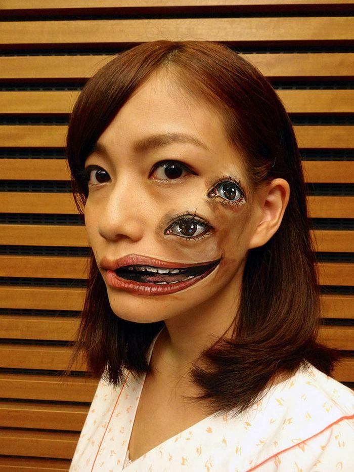 21 idéias assustadoras de maquiagem bem a tempo para o Halloween 19
