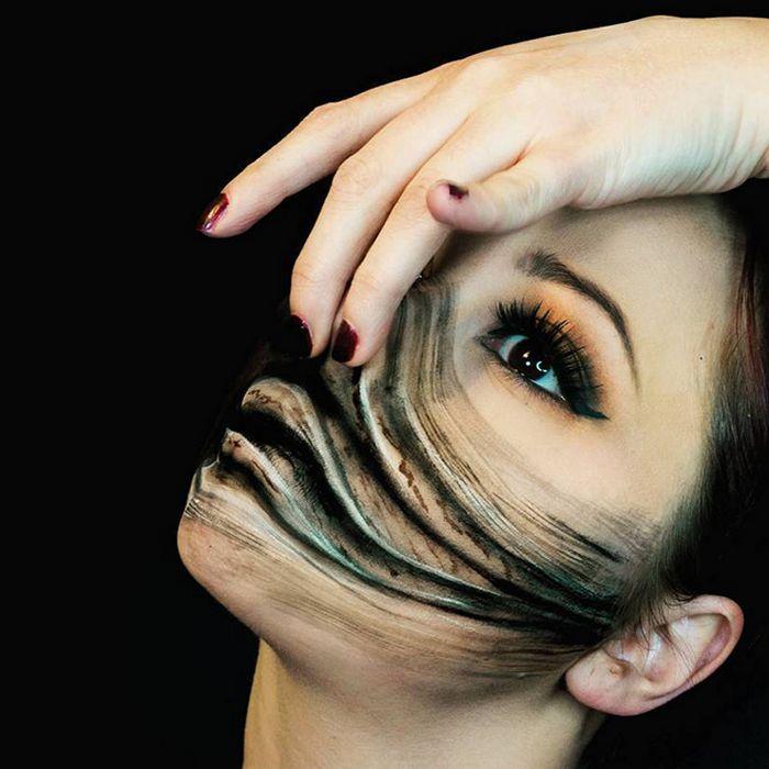 21 idéias assustadoras de maquiagem bem a tempo para o Halloween 22
