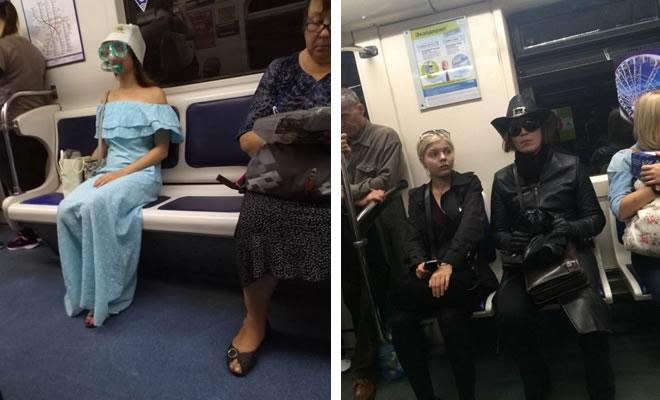 Metrô um lugar cheio de gente estranhas (31 fotos) 6