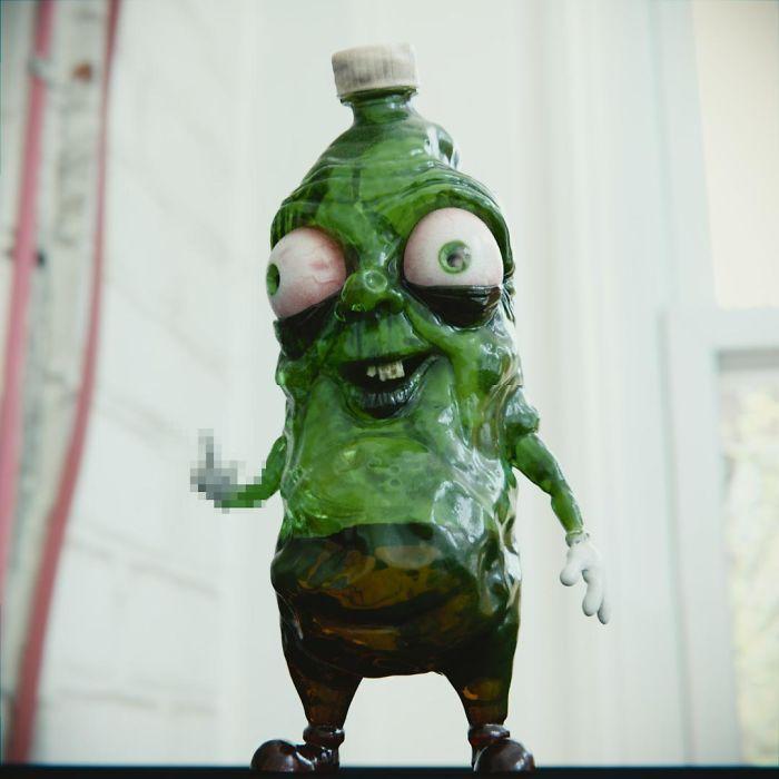 Artista reimagina personagens de desenhos e vários objetos como personagens de terror (17 fotos) 12