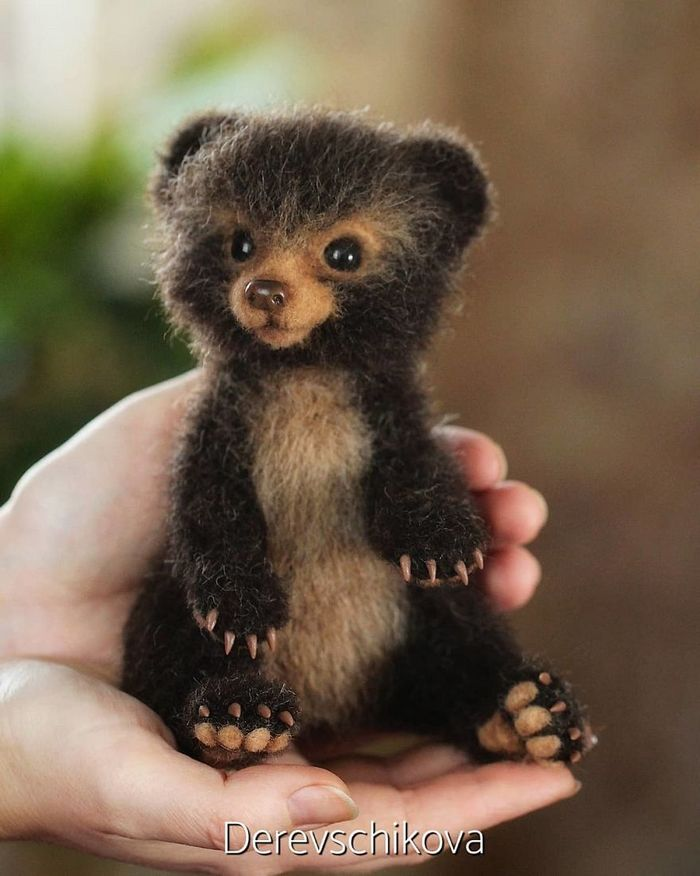 Artista russo criar animais de lã feltrada que são uma fofura (25 fotos) 9