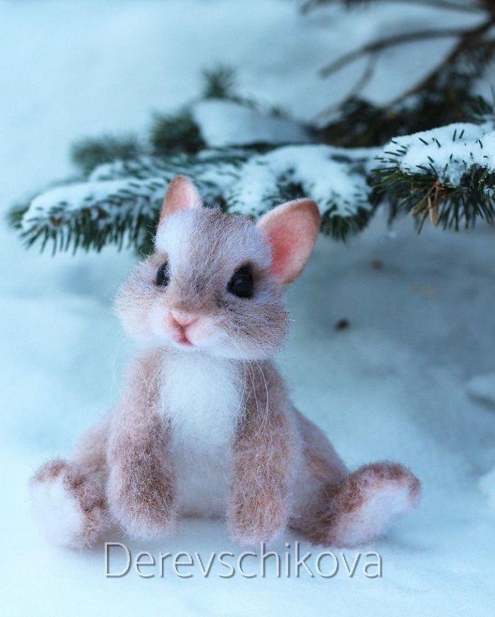 Artista russo criar animais de lã feltrada que são uma fofura (25 fotos) 19