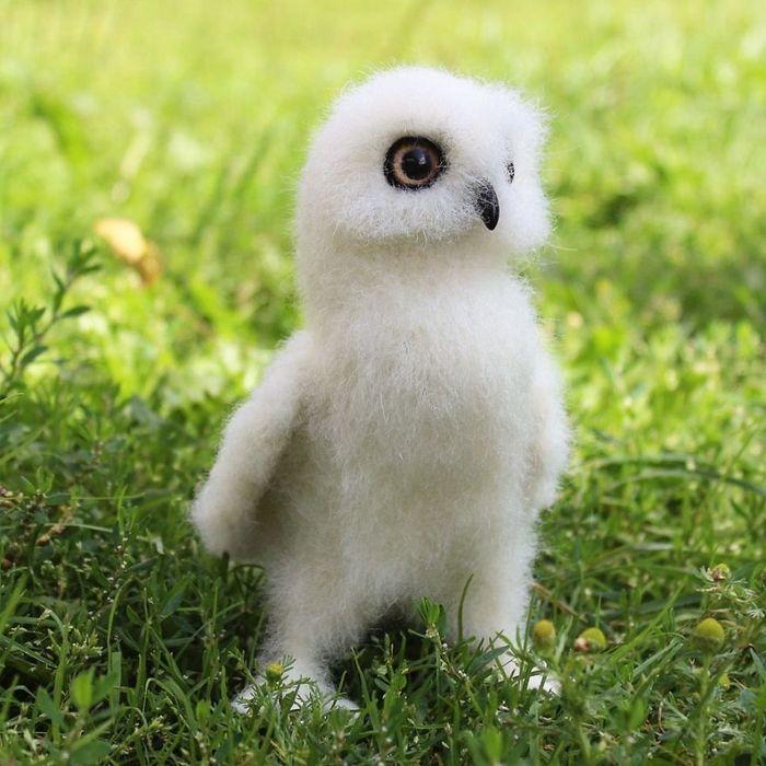 Artista russo criar animais de lã feltrada que são uma fofura (25 fotos) 21