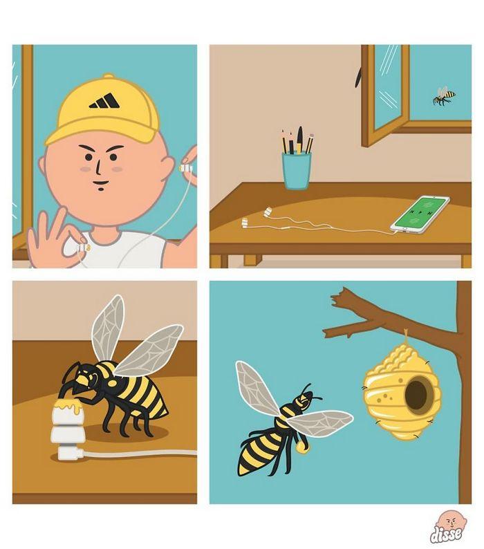 30 quadrinhos inapropriados de um artista italiano que imagina o mundo de cabeça para baixo 8