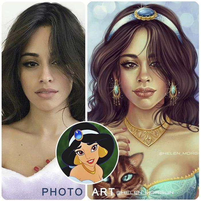 Artista imagina celebridades como personagens da Disney (32 fotos) 11
