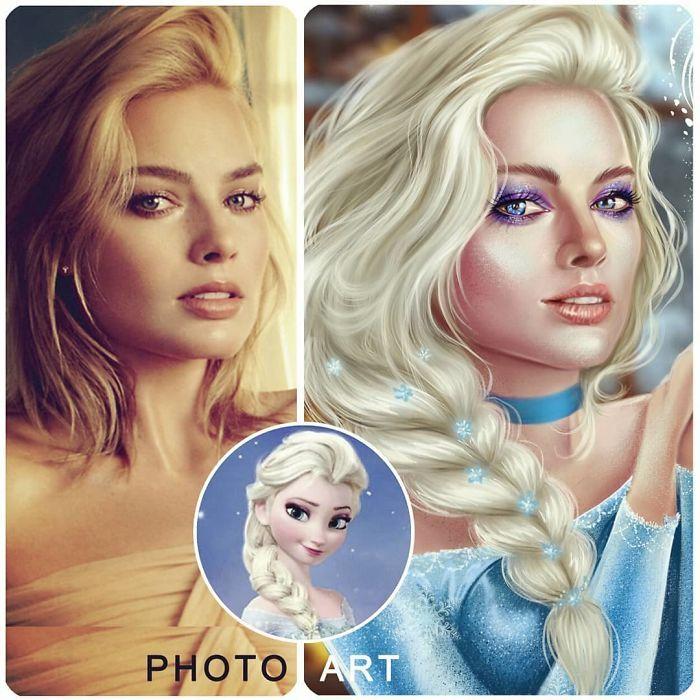 Artista imagina celebridades como personagens da Disney (32 fotos) 12