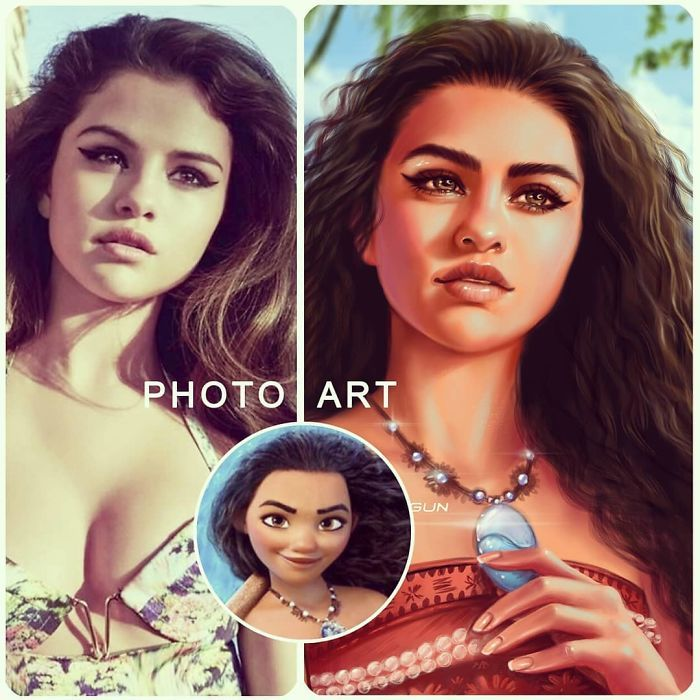 Artista imagina celebridades como personagens da Disney (32 fotos) 21