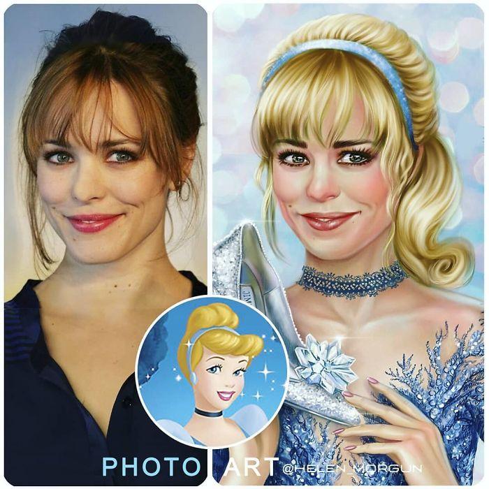 Artista imagina celebridades como personagens da Disney (32 fotos) 33
