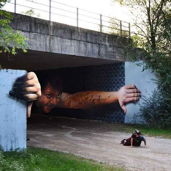 30 fotos de arte de rua em 3D que interagem com seus arredores 5